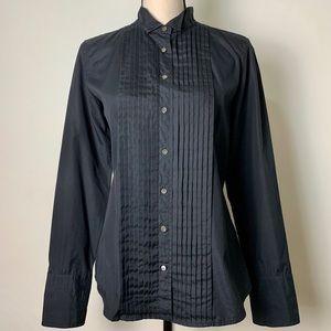 J. Crew Black Long Sleeve Button Down Size 10